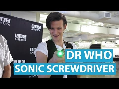 Matt Smith Demos the  Doctor Who  Sonic Screwdriver TV Remote