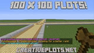 Creative Plots Minecraft Server  Offical Trailer! 200x200 plots!