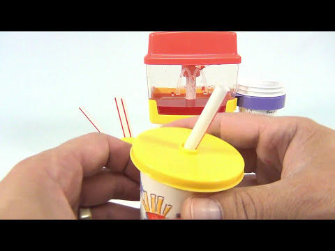 McDonald's 1993 Fountain Drink Maker Set - Making Fountain Drinks!