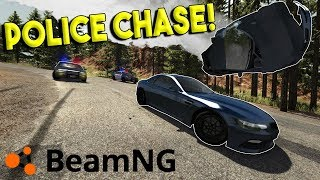 INSANE MOUNTAIN POLICE CHASES & CRASHES! - BeamNG Drive Gameplay & Crashes