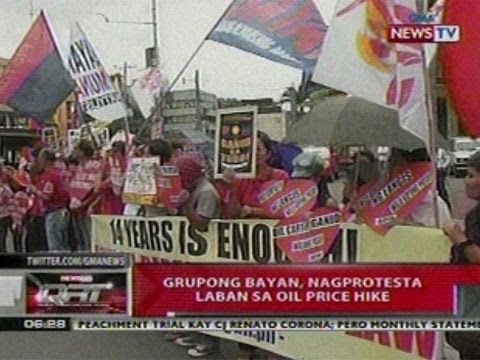 QRT: Grupong Bayan, nagprotesta vs sa   oil price hike