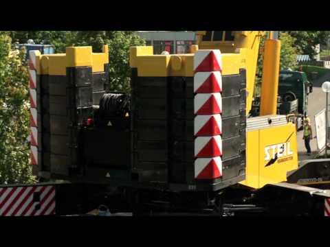 Steil Kranarbeiten - Modulraumbau Uni Trier