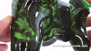 BlackOPS2 *GREEN* ZOMBIES - CUSTOM DESIGNS - PS3 Controllers | HG Arts Modz
