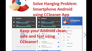 How To Solve Hanging Problem Smartphone Android using CCleaner App- hindi