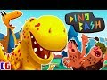 Dino Bash НАПАДЕНИЕ ЗЛЫХ ТРОГЛОДИТОВ! Защищаем яйцо динозавра в мультяшной игре Дино Баш