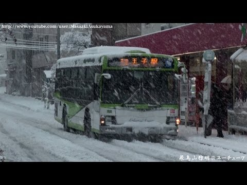 [Heavy snow!!] Kokusai Kogyo Bus Isuzu Erga 5132 @ Chuo-koen [January 14, 2013]
