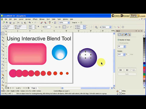 Using the blend tool in CorelDraw