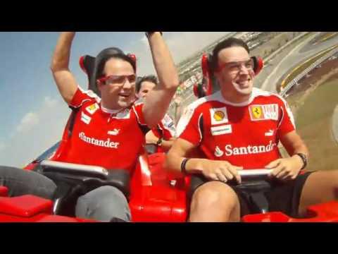 Fernando Alonso и Felipe Massa на аттракционе Formula Rossi.flv