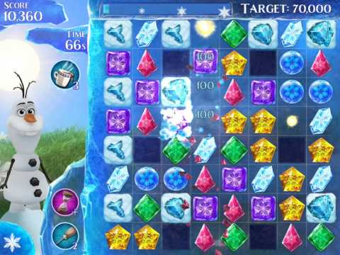 Frozen Free Fall Level 125 Live Action Play Walkthrough