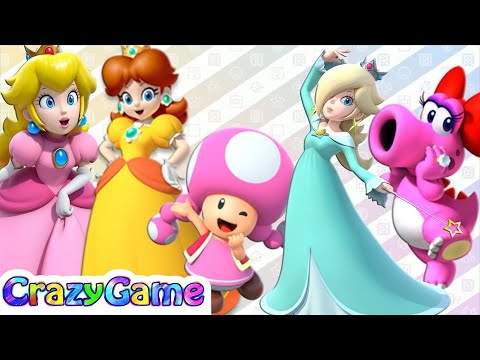 Mario Party 9 & 10 All Girl Characters Gameplay (Girl Party)