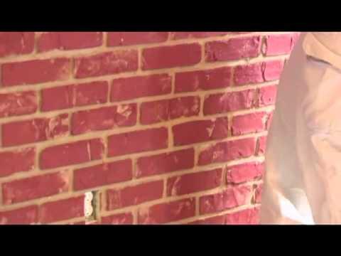 Urestone faux brick veneer panel installation how to for Glue on brick veneer
