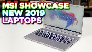 MSI showcase 2019 RTX LAPTOP RANGE to KitGuru