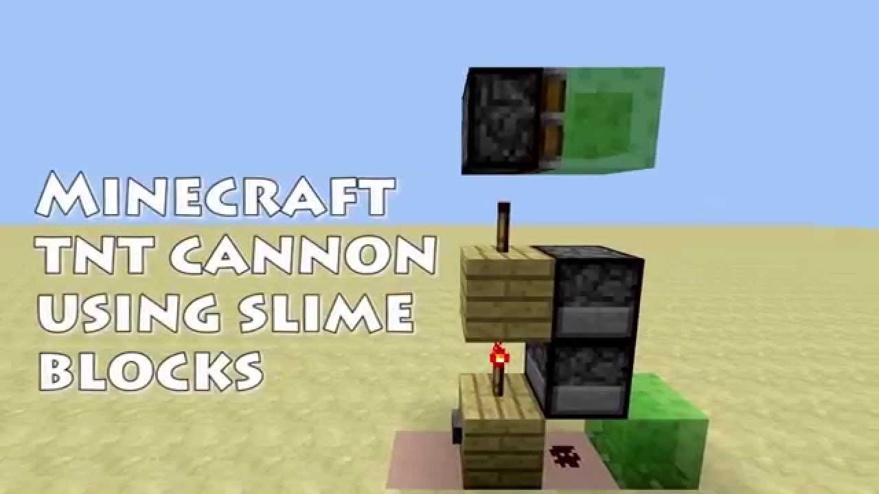 how to make a tnt cannon with slime blocks