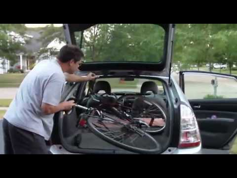 How To Put A Full Size Bike In The Prius Youtube