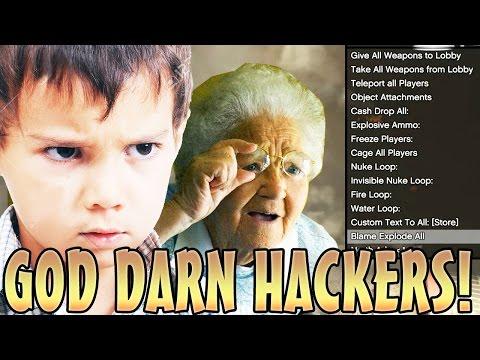 KID CALLS HIS GRANDMA ON HACKER! (GTA 5 Funny Trolling)