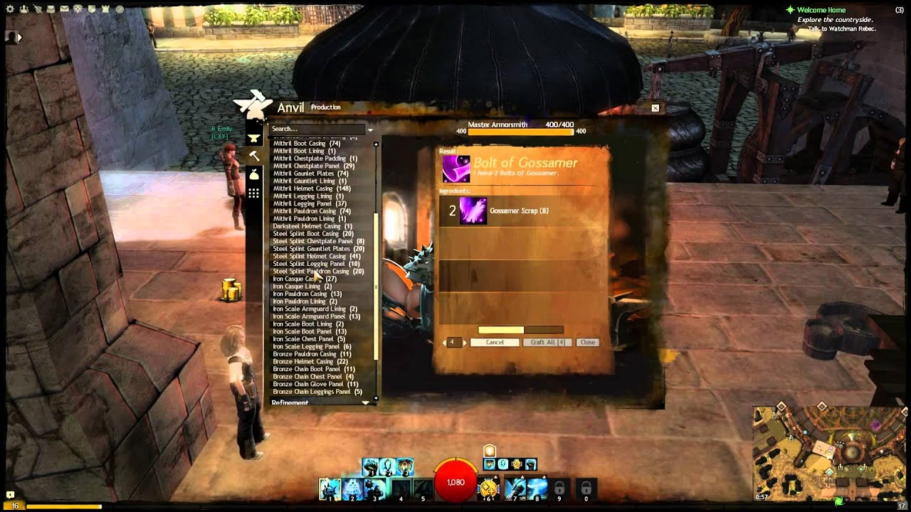 Guild wars 2 how to make 10 slot bags