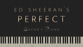"Download Lagu Ed Sheeran - ""Perfect"" \\ Jacob's Piano \\ Synthesia Piano Tutorial Gratis STAFABAND"