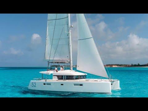 Lagoon 52 F (new interior) catamaran Walkthrough at Cannes 2017