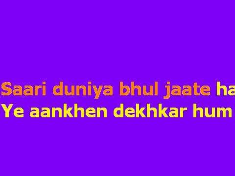 Ye Aankhen Dekhkar Karaoke.avi video