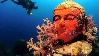 Video clip Thế giới bàng hoàng về ngôi đền bí ẩn dưới đáy biển Indonesia