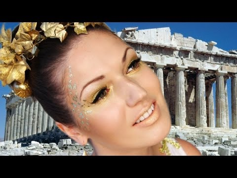 GREEK GODDESS Halloween Look (Makeup Hair Costume Accessories)