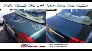 Honda Civic with Faded and Oxidized Paint and Clear Coat Failure