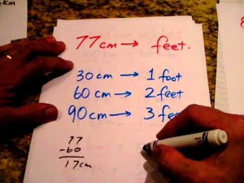 Conversion from feet to centimeters by Steve McCrea