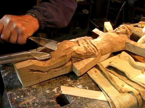 Come scolpire il legno video