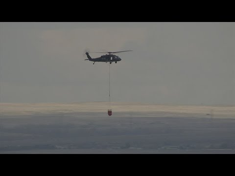 Raw: National Guard helicopters training for wildfires