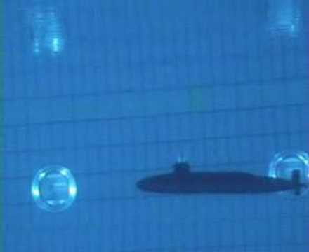 Test Run RC Sub under water view in pool