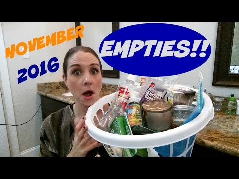 EMPTIES~NOVEMBER 2016 PRODUCT REVIEWS