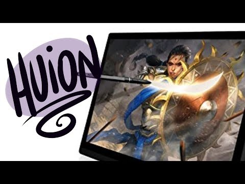 Trying out a  HUION GT-156HD V2 TABLET