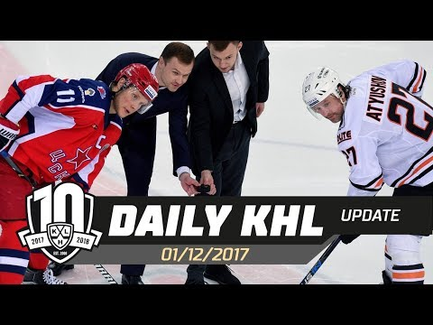 Daily KHL Update - December 1st, 2017 (English)