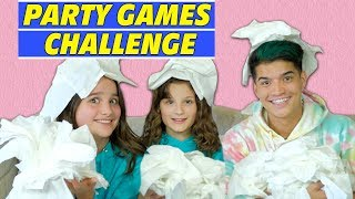 Party Games Challenge ft. Alex Wassabi | Annie LeBlanc & Hayley LeBlanc