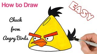 How to Draw Chuck from Angry Birds | Drawings for Kids