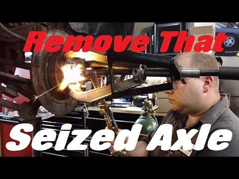 How To Remove A Seized Axle Stuck In The Hub - Mitsubishi Endeavor Example