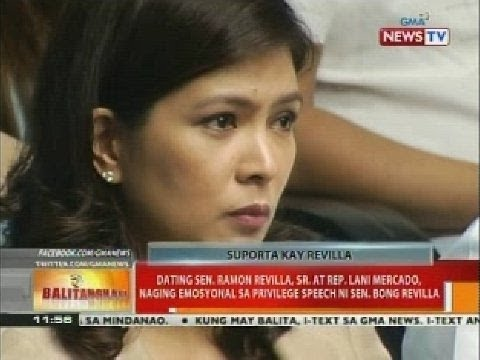 Ramon Revilla, Sr. at Rep. Lani Mercado, naging emosyonal sa privilege speech ni Sen. Bong Revilla