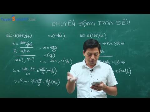 Bài giảng : Chuyển động tròn đều  - Vật Lí 10 - Thầy giáo : Phạm Quốc Toản