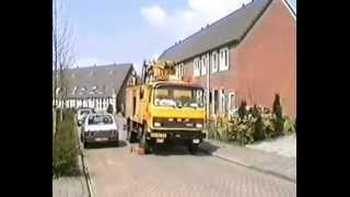 DAF 1300 EGD Hoogwerker aan het werk met de Openbare Verlichting in Assen, Drenthe