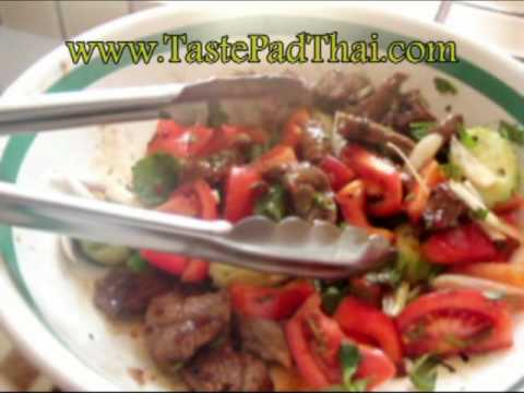 Thai Beef Salad with Healthy Salad Dressing Recipe