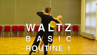 How to Dance Waltz - Basic Routine 1