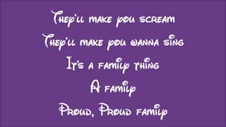 Disney's The Proud Family Theme Song Lyrics