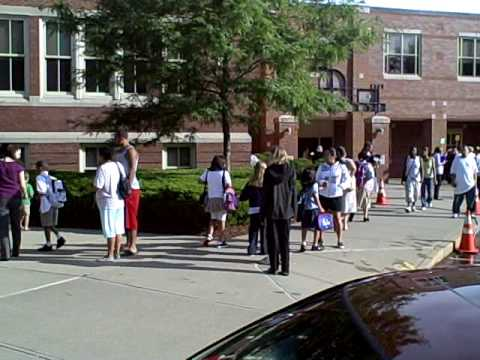 First Day of School in Springfield Massachusetts 2009-10