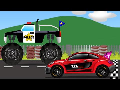 Monster Truck Vs Sports Car | Kids Video | Kids Toy Race