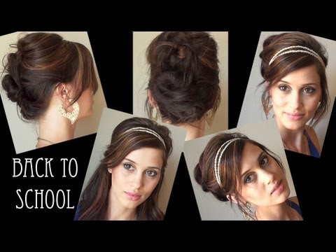 easy back to school hairstyles no heat 3 easy no heat back to school hairstyles
