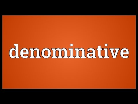 Header of denominative