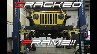 JEEP WRANGLER FRAME REPAIR!!!! This one is bad!