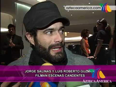 ¡Jorge Salinas filma escenas candentes!