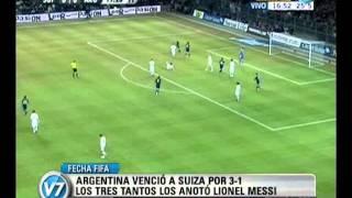 Visión Siete: Argentina venció a Suiza por 3 a 1