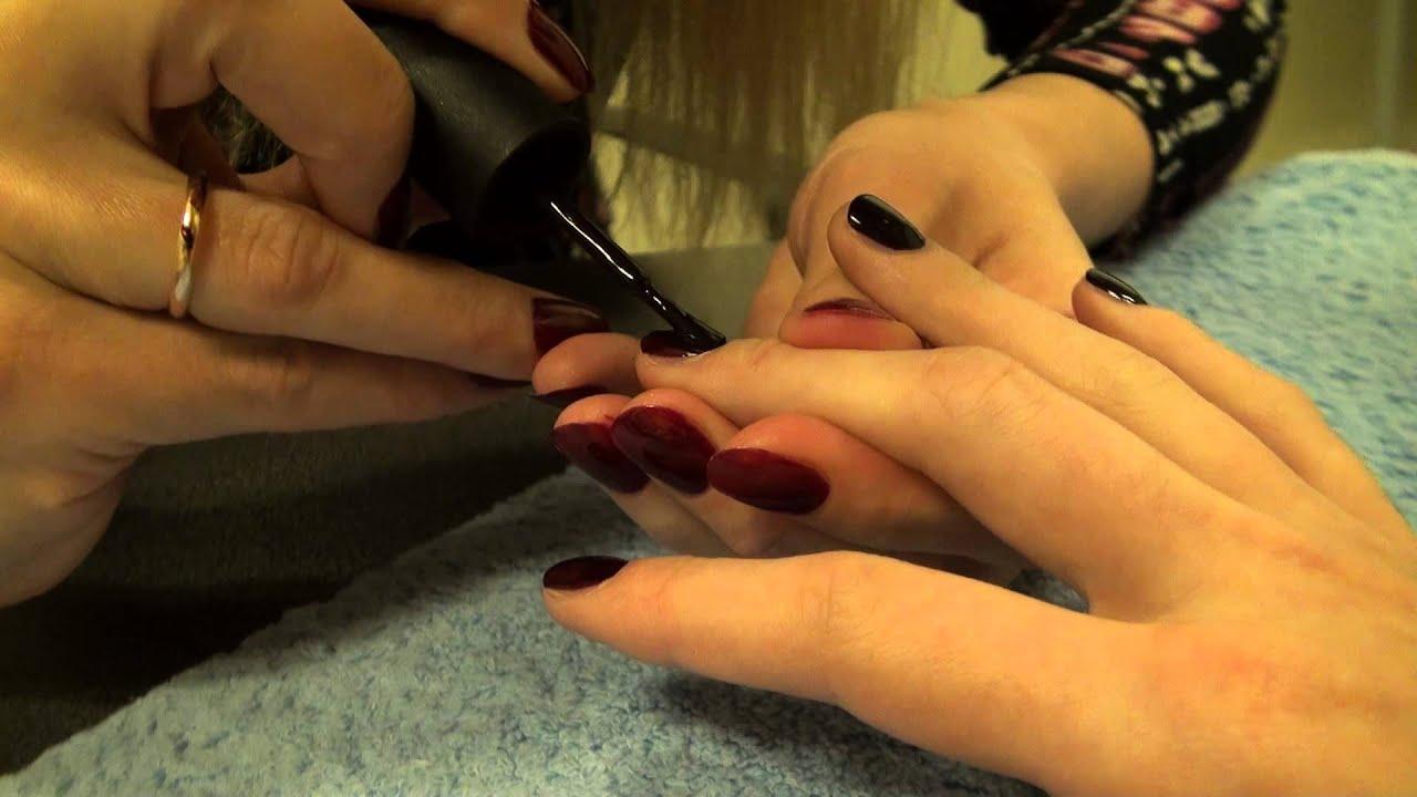 как накрасить ногти на правой руке самой
